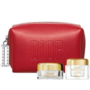 Dior Matte Red Mini Cosmetic Pouch and VIP SAMPLES
